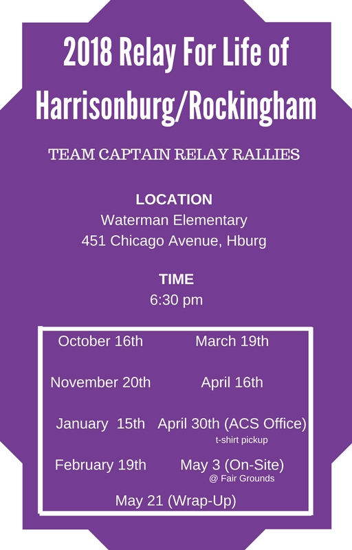 Relay For Life of Harrisonburg Rockingham | Sign Up For Relay For ...